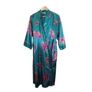 Cache Green Floral Kimono Full Length Long Robe